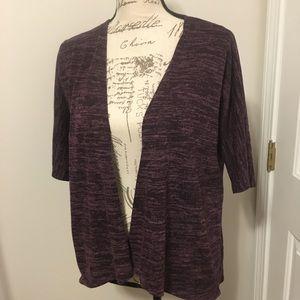 #221-Lularoe purple sweater 3/4 length sleeves